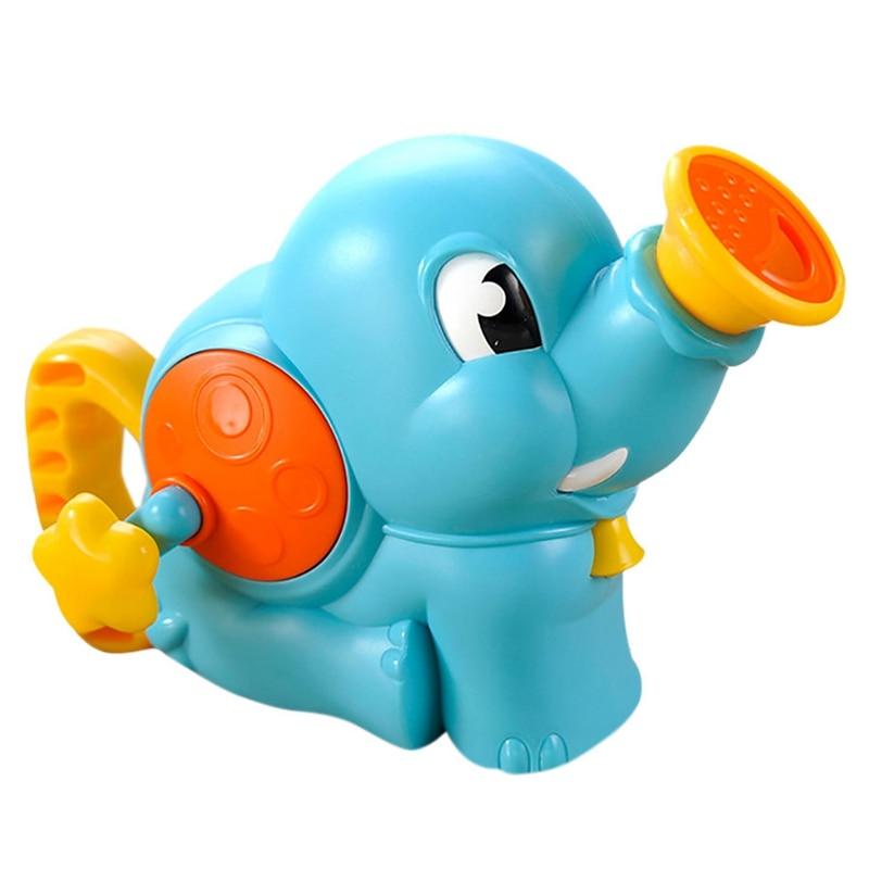 FBIL-Baby Bath Toys Children'S Bathroom Water Toys Cartoon Elephant Shower Hand Pump Water Spray