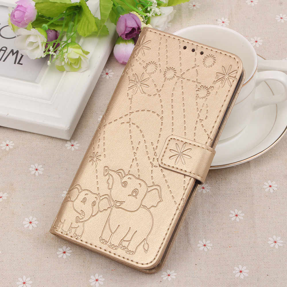 Flip Leather Book Phone Case Shell For Nokia 6.1 6 2018 7.1 Fireworks Elephant Texture With Wallet Card Pocket Slots