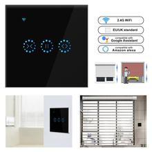 WiFi электрические жалюзи сенсорный выключатель eWeLink приложение Голосовое управление от Alexa Echo AC110 до 250 В для механических ограничительных жалюзи мотор