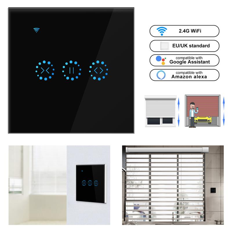 WiFi Electrical Blinds Switch Touch EWeLink APP Voice Control By Alexa Echo AC110 To 250V For Mechanical Limit Blinds Motor