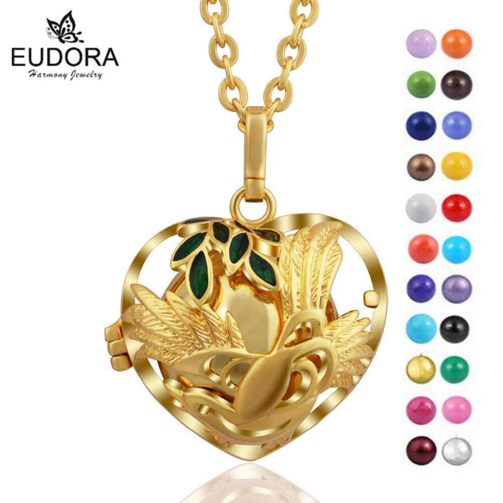 Color oro Angel llamador colgante Eudora, Bola de la armonía Bola mexicana Engelsrufer las mujeres embarazadas del vientre coloridos Bola colgante de joyería