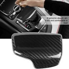 Auto Pomello Del Cambio Testa Della Copertura Trim per Audi A4 S4 RS4 B9 A5 S5 RS5 Q5 Q7 Accessori Auto in Fibra di Carbonio lucida