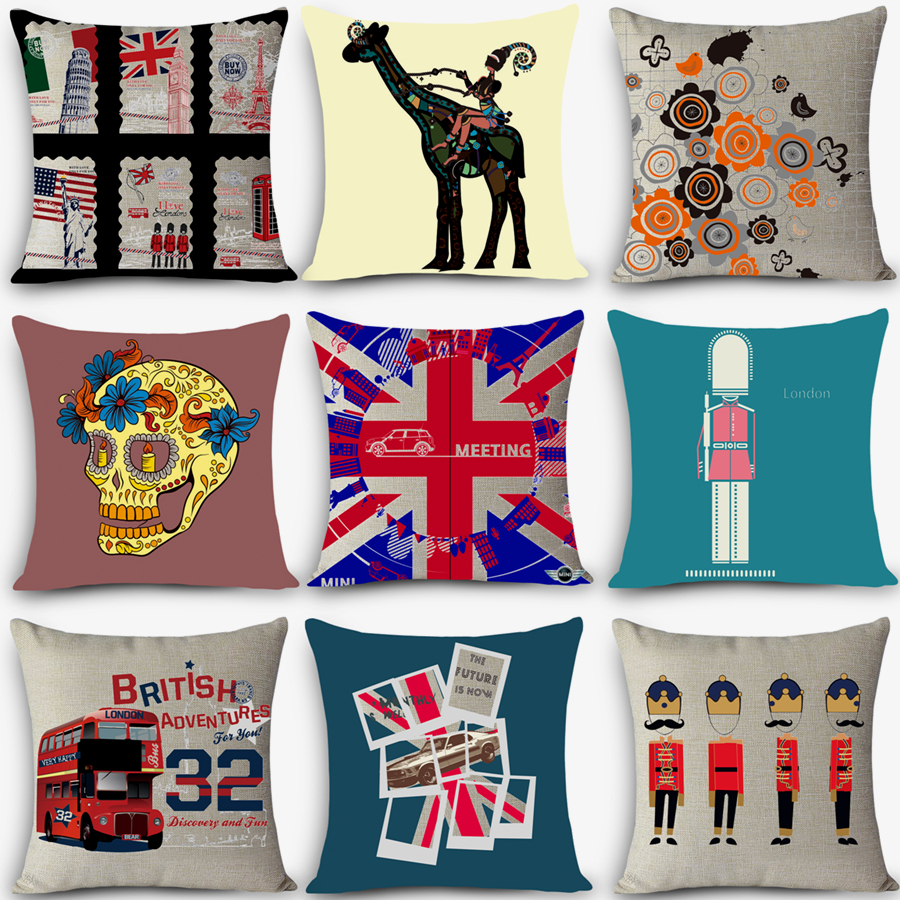 18 Quality Cozy Couch Cushion Euro Style Nordic Vintage Seat Back Cushions Home Decorative Pillows Uk London Pillowcase Myj I9