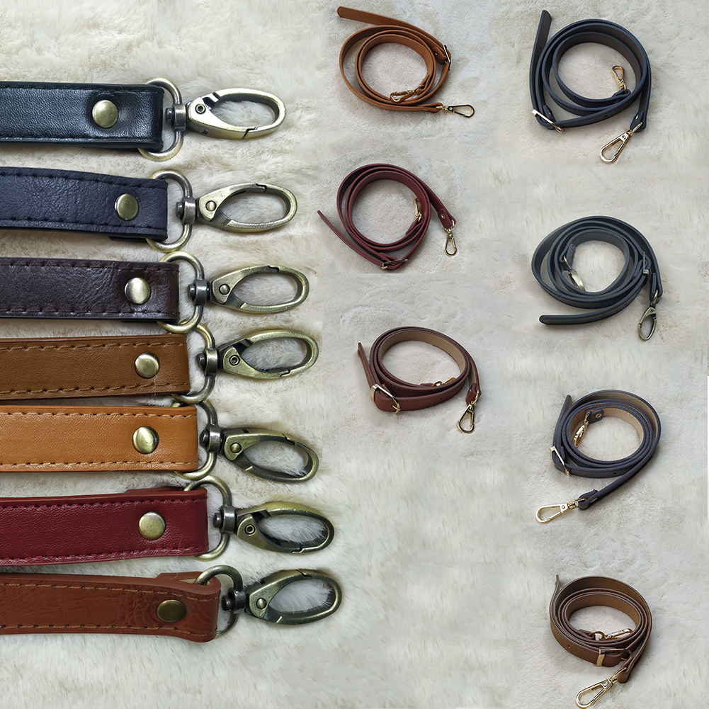 New 120cm Adjustable Bag Strap Handbag DIY Handle PU Leather Shoulder Bag Strap Belt Buckle Fashion Shoulder Crossbody Bag Belts