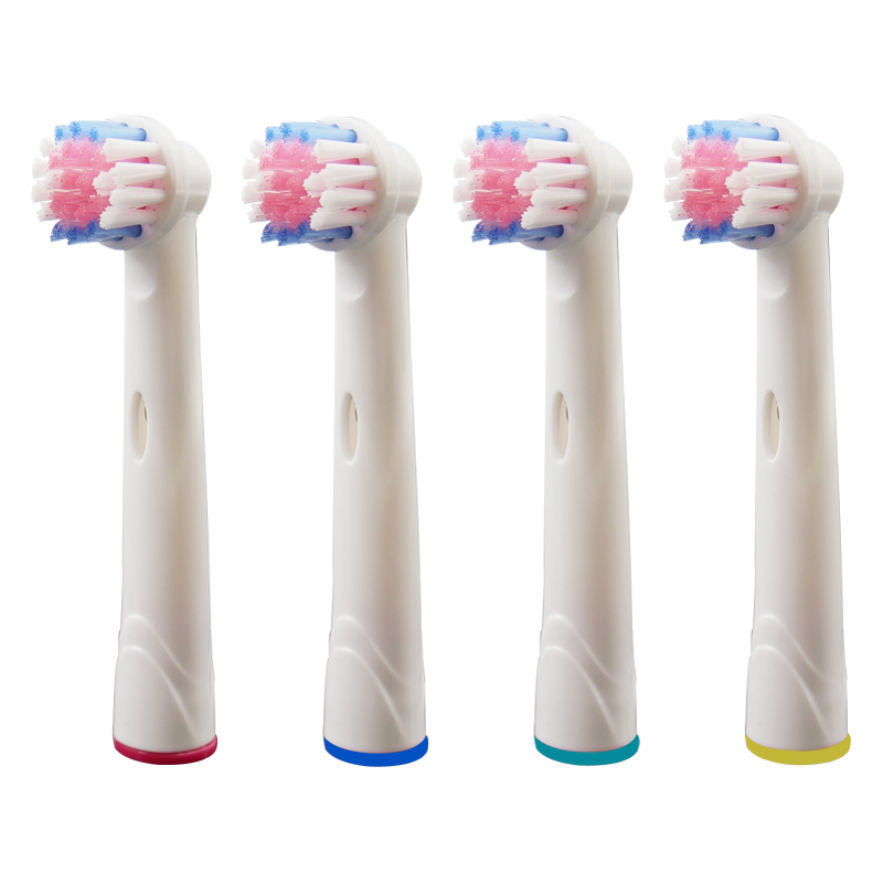 4PCS Oral B Replacement Toothbrush Heads for Braun Electric Tooth brush Oral Hygiene Vitality Cross Action Nozzles Triumph EB17A image