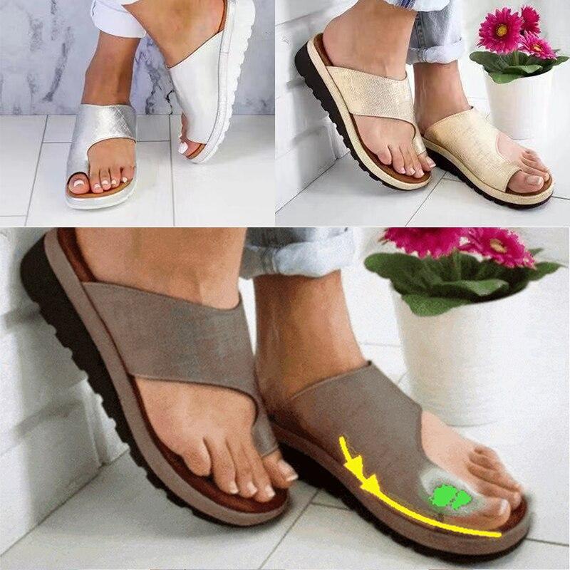 Summer Women Comfy Platform Corrective Sandal Shoes Big