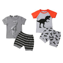 1-6T 2019 New Toddler Infant Kids Baby Boys Clothes Set Gray