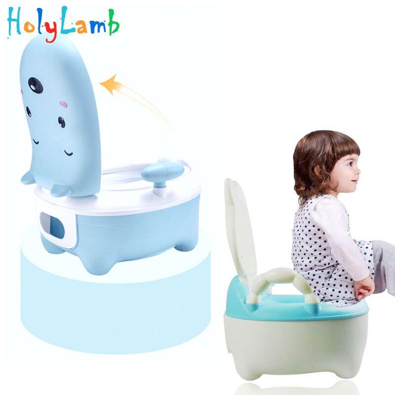 Cartoon Animals Cattle Portable Baby  Kids Potty Training Seat Children's Urinals Baby Toilet Bowl  Pot Training Pan Toilet Seat