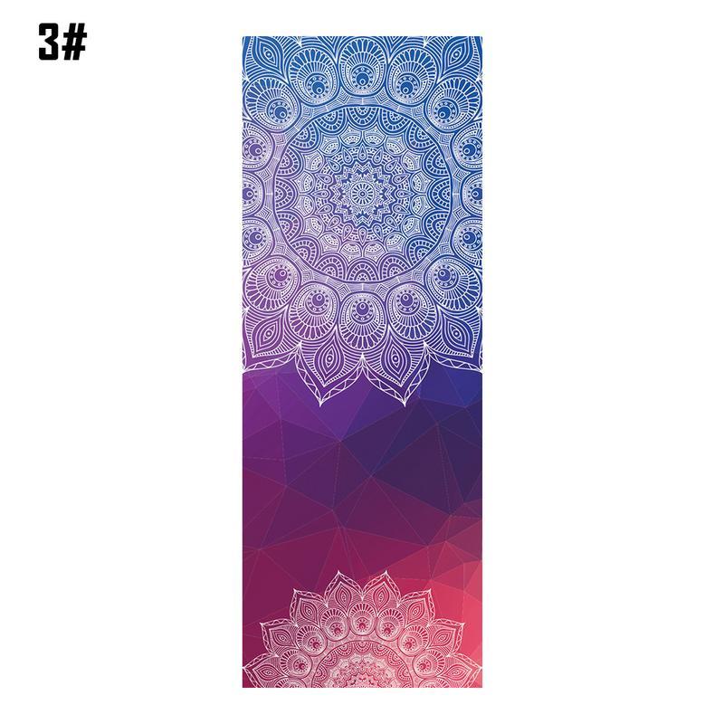 Mandala Print Portable Yoga Mat 4