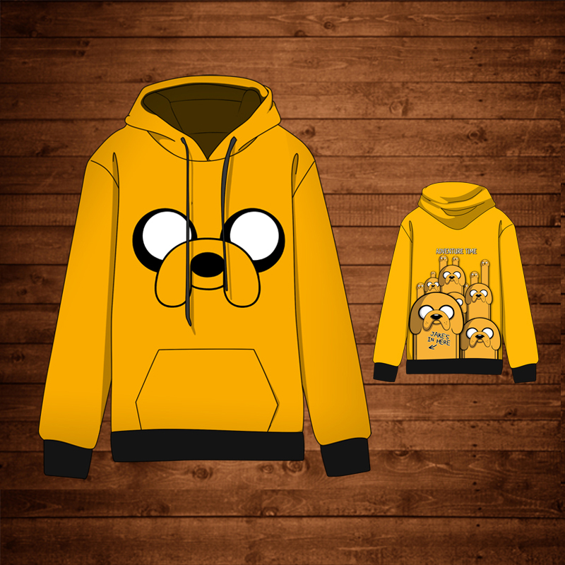 Anime  Adventure Time with Finn and Jake  Cotton Cosplay Hoodies Standard Hooded Winter Sweatshirts Men jung kook bts persona