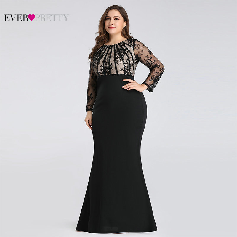 Elegant Plus Size Mother Of The Bride Dresses Mermaid Long Sleeve Farsali Lace Wedding Guests Dresses 2019 Vestido De Madrinha