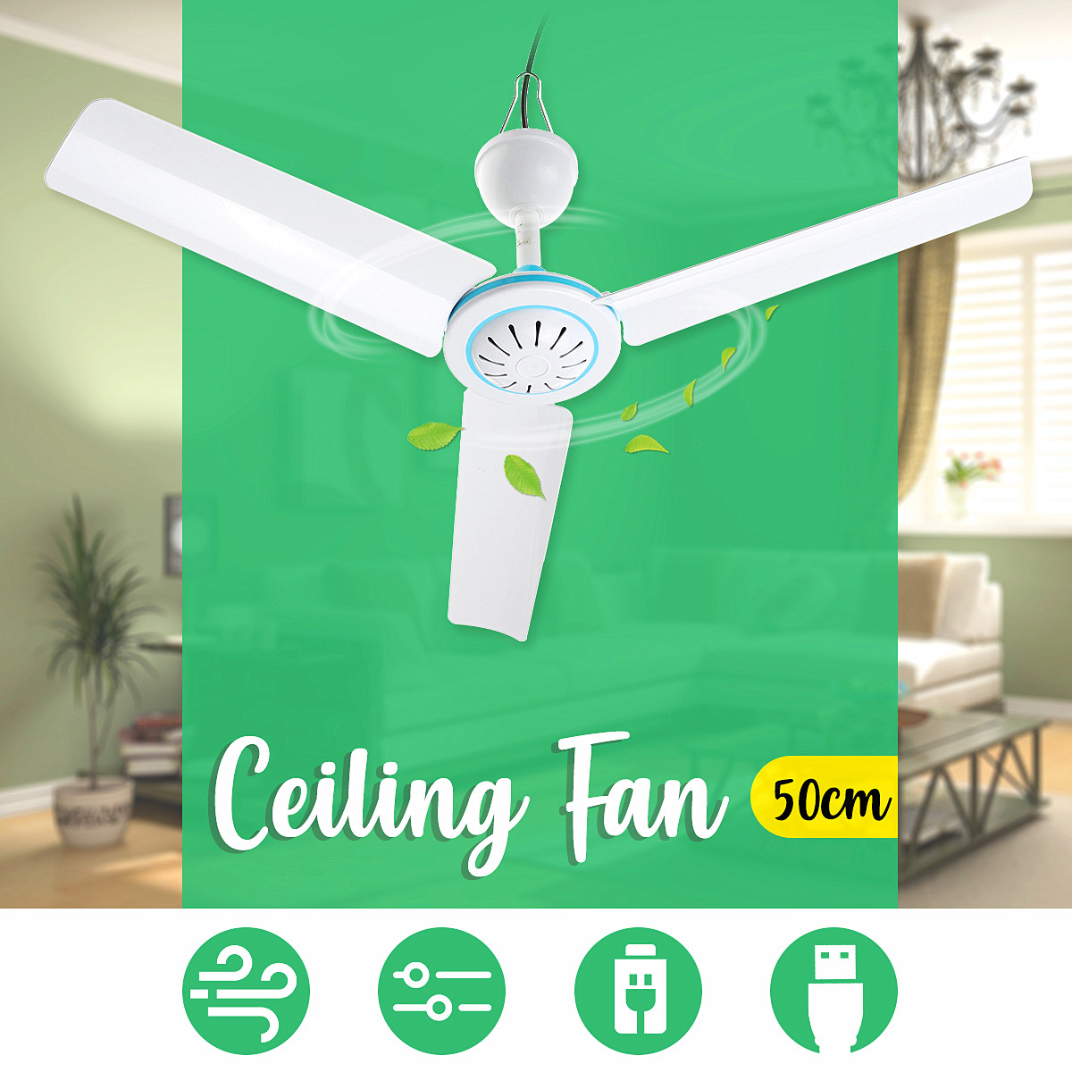 20 Inch 12V 6W Mini Electric Ceiling Fan Fans USB Home Air Conditioner Cooler Fans Li-ion for Dormitory Summer Outdoor 3 Blades20 Inch 12V 6W Mini Electric Ceiling Fan Fans USB Home Air Conditioner Cooler Fans Li-ion for Dormitory Summer Outdoor 3 Blades