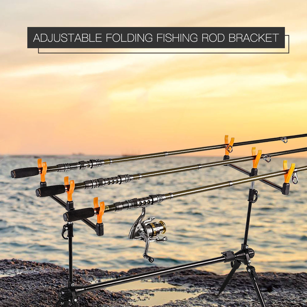 Lixada Adjustable Retractable Carp Fishing Rod Pod Stand Holder Fishing Pole Pod Bracket Fishing Tackle Fishing Accessory