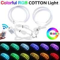 4X131mm Car Auto Halo Rings Cotton Lights SMD LED Angel Eyes for BMW E36/E38/E39/E46 RGB Car Styling White/Blue/Yellow