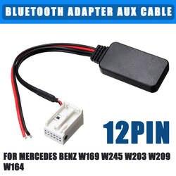 12Pin автомобильный адаптер bluetooth Беспроводной Радио стерео кабель AUX для Mercedes Benz W169 W245 W203 W209 W164 для iPhone для iPad
