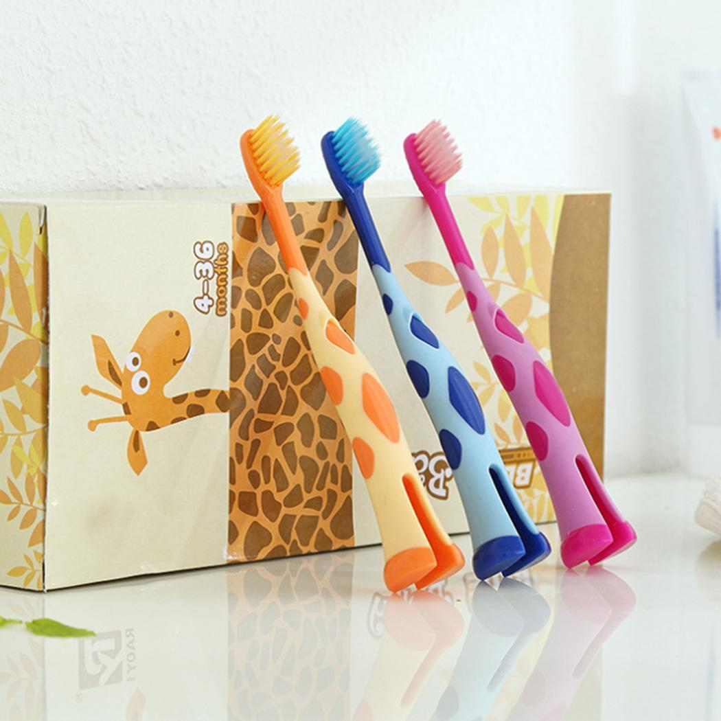 Random Cute Care Cartoon Soft Teeth Toothbrush for 3 Years Old Children Toothbrush Kids image