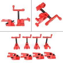 Conjunto de braçadeira de madeira, 4 conjuntos de 3/4 ', liberação rápida, resistente, grande base, ferro, madeira, metal, bancada de trabalho em madeira