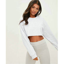 Womens Casual Long Sleeve Jumper Sweater Crop Top Pullover Tops