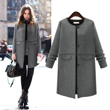 OL Autumn and winter jacket woolen coat fashion warm coats wool coat women plus size 5XL COATS gray jacket 2019 2017 new lady coats winter jacket leather coat high quality and sexy women fashion thick coats thermal super warm jacket 2017