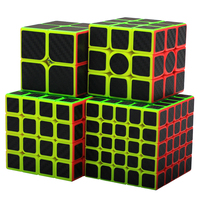 4Pcs Zcube Carbon Fiber Fluorescence Magic Cube Set for Children Adult Brain Training Magic Cube Kit