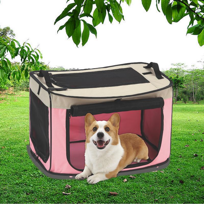 S/M/L Car Wire Folding Puppy  Pet Box Large Medium And Small Outdoor Portable Foldable Delivery Room Cat Dog Pet Cage Pet Nest