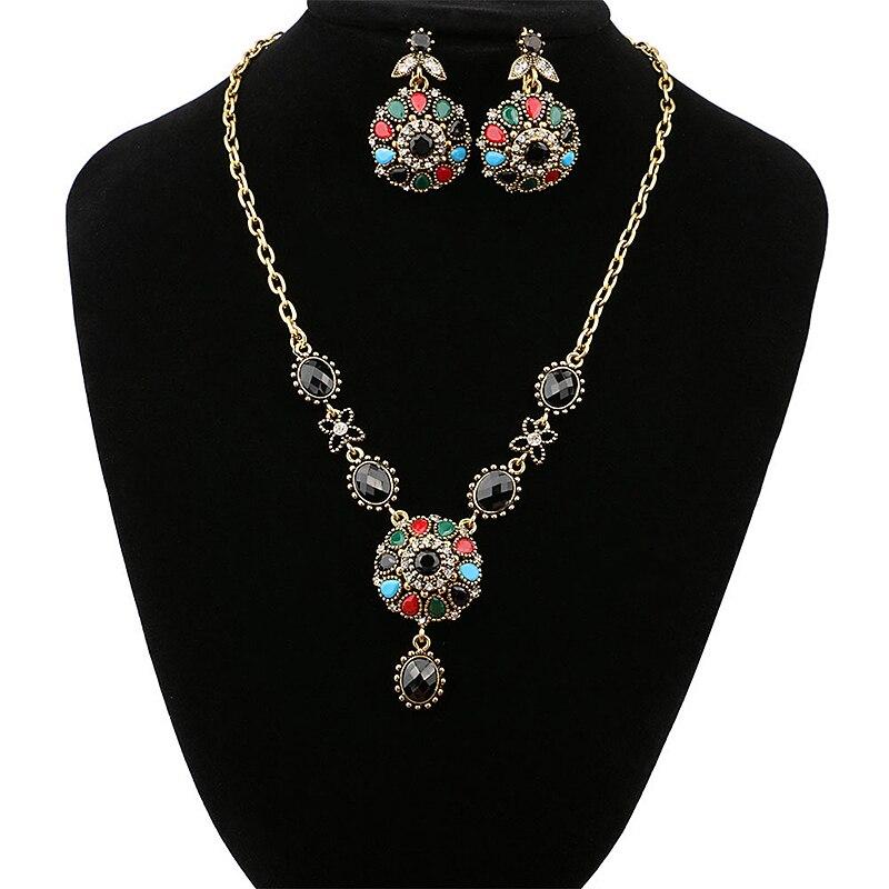 Ladies Fashion Jewelry Women &Girls Vintage Crystal Pendant Necklace Beautiful Stylish Gifts Hot New