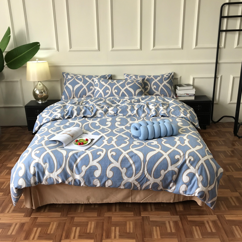 Fashion Full Cotton Sueding Bedding Set Warm Soft Home Bedroom Living Room Cover Animal Character Abstract Patterns Family SetFashion Full Cotton Sueding Bedding Set Warm Soft Home Bedroom Living Room Cover Animal Character Abstract Patterns Family Set