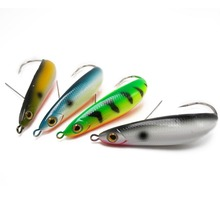 CATCHSIF 4PCS weedless Minnow Spoon 3.5inch Hard Lures Fishing baits 19.5g