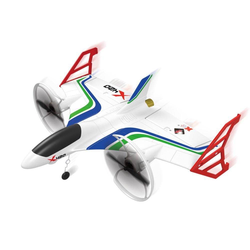 XK X420 2.4G 6CH 420mm 3D6G VTOL Vertical Take off And Landing EPP 3D Aerobatic FPV RC Airplane RTF Remove Control Toys-in RC Airplanes from Toys & Hobbies