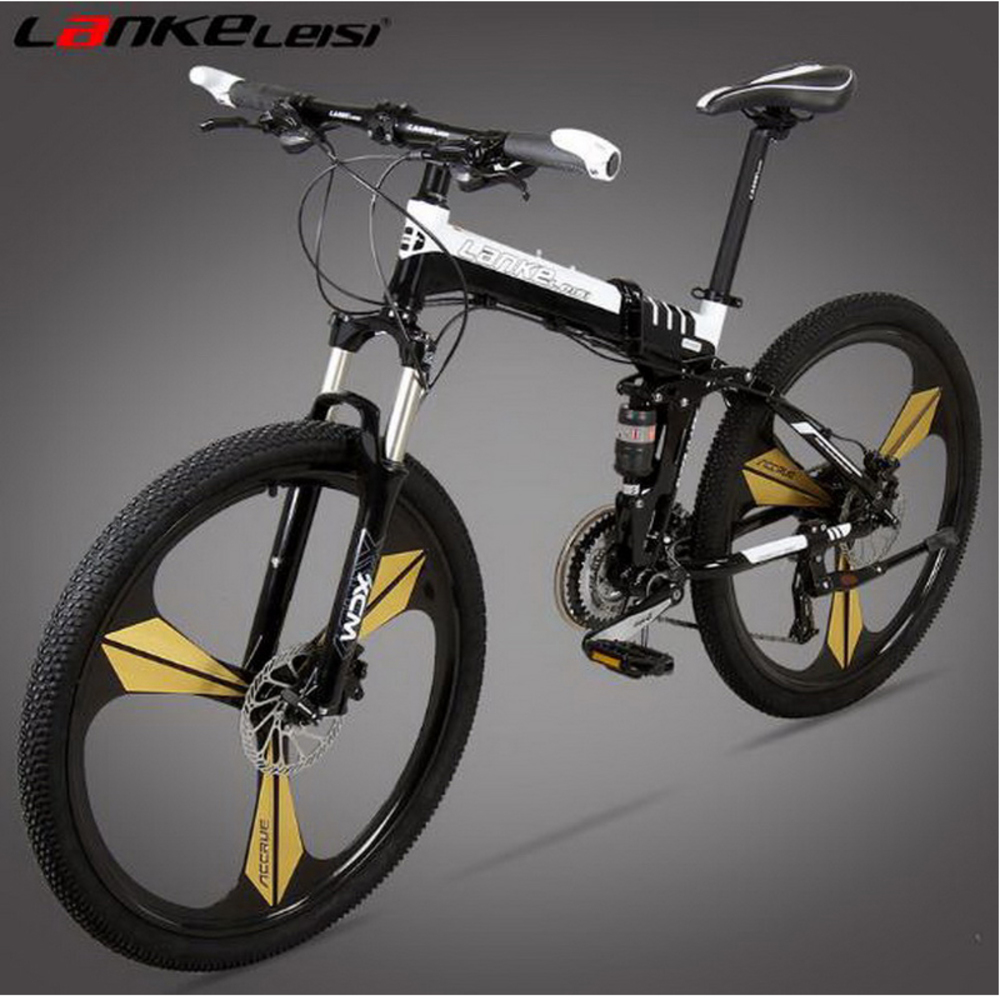 Tb250902-1/Folding Bike/26 Inch 24/27 Speed/oil Brake One Round Folding Mountain Bike/men And Women Models/Positioning Flywheel