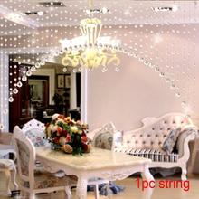 Креативные кристаллы, стеклянные бусины, гирлянда, занавеска, окно, сделай сам, настенный домашний декор, свадебный фон, праздничный Декор(12-14-16мм розовый)#20
