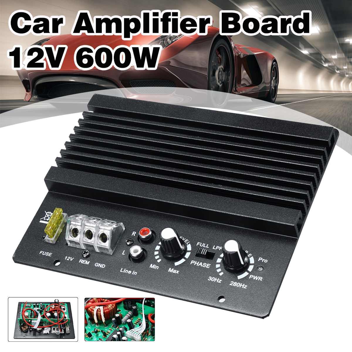 12V 600W Mono Car Audio Power Amplifier Powerful Bass Subwoofers Amp Car Amplifier Board Car Speaker Aux Subwoofer Amplifiers12V 600W Mono Car Audio Power Amplifier Powerful Bass Subwoofers Amp Car Amplifier Board Car Speaker Aux Subwoofer Amplifiers