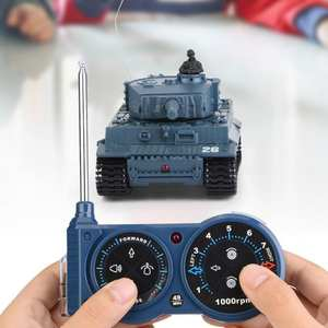 Tank-Model Remote-Control High-Simulated Mini 1/72-Scale RC Toy with Realistic-Engine