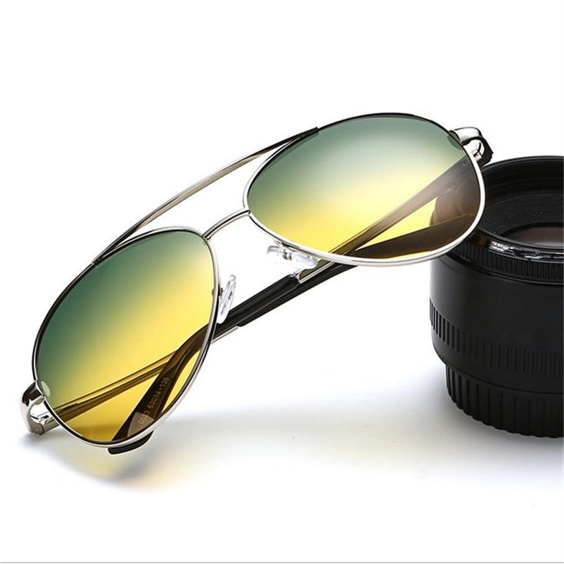 Day Night Vision Men/'s Polarized Sunglasses Outdoor Pilot Mirror Glasses ##4