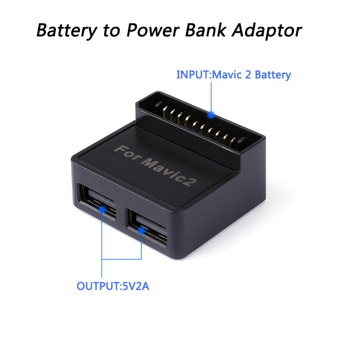 Блок питания с 2 USB двумя интерфейсами для DJI Mavic 2 Pro/Mavic 2 Zoom Drone мобильный телефон/пульт дистанционного управления