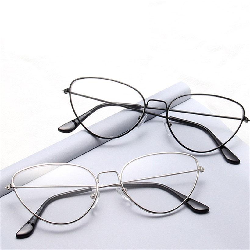 Oulylan кошачий глаз очки рамки S для женщин металлические для мужчин ретро Transparente оптические унисекс