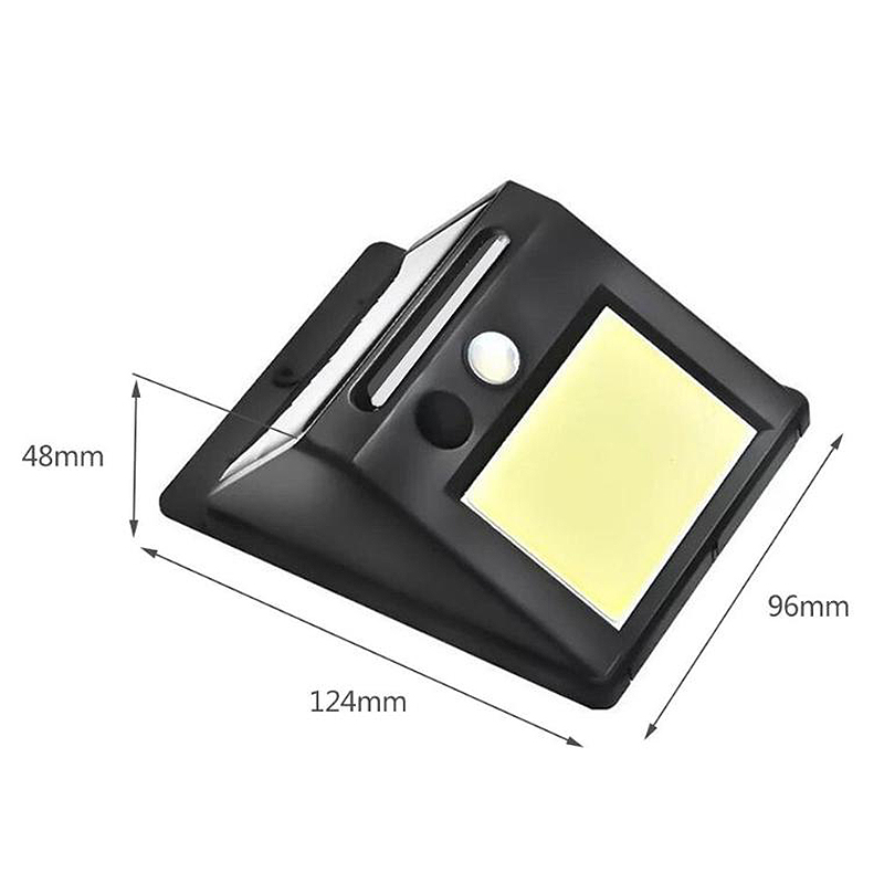 Black 48Led Motion Sensor Wall Mount Solar Light Infrared Human Body Induction Energy Saving Street Yard Garden Lamp