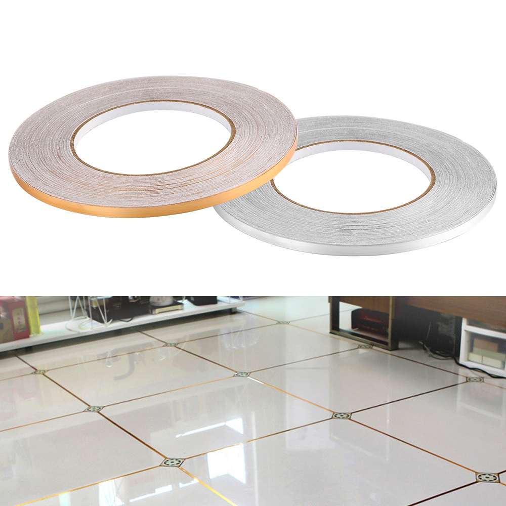 50x0.05m Copper Foil Strip DIY Home Decor Decoration Sticker Gap Sealing Foil Tape Waterproof Wall Sticker Floor Seam Sticker image
