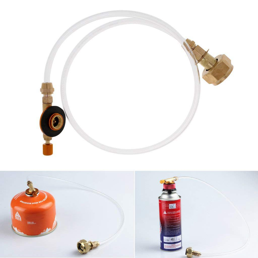 Hot Propane Refill Adapter Picnic Camping Stove Gas Hose Double Sided Adjustable Flat Tank Gas Pipe Adapter Hose|Outdoor Stoves| |  - title=