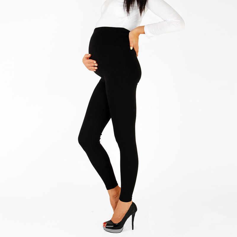 01f70a32a198e ... 2019 Women High Waist Elastic Maternity Leggings for Pregnant Women  Doll Pregnancy Leggings Pants Maternity Cotton ...