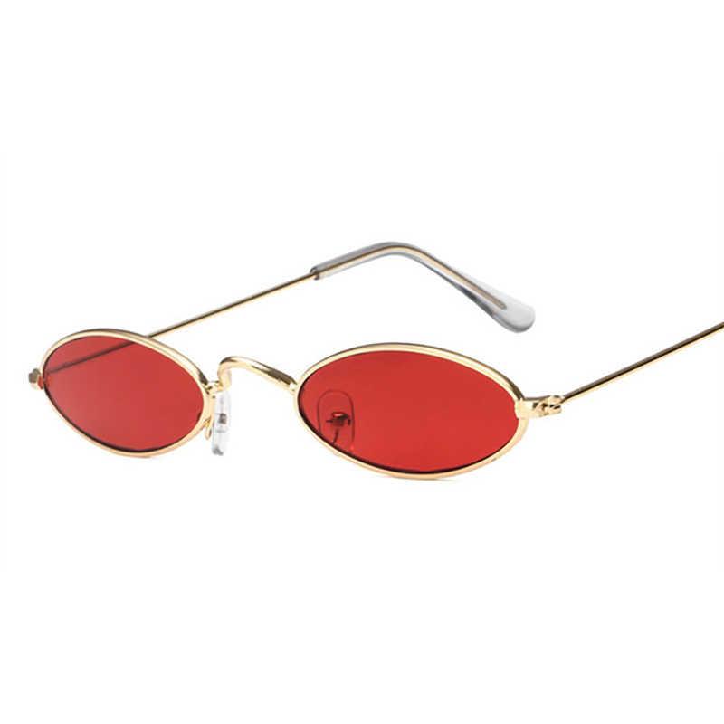 505adbe23153e ... Vintage Oval Sunglasses Men Sun Glasses Women Retro Metal Frame Red  Tiny Round Skinny Eye Glass ...