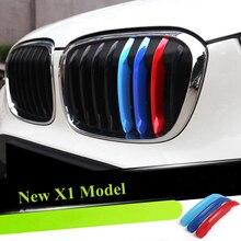 3 шт. 3D Автомобильная передняя решетка отделка спортивные полоски крышка наклейки для BMW большинство моделей автомобиля Стайлинг Аксессуары
