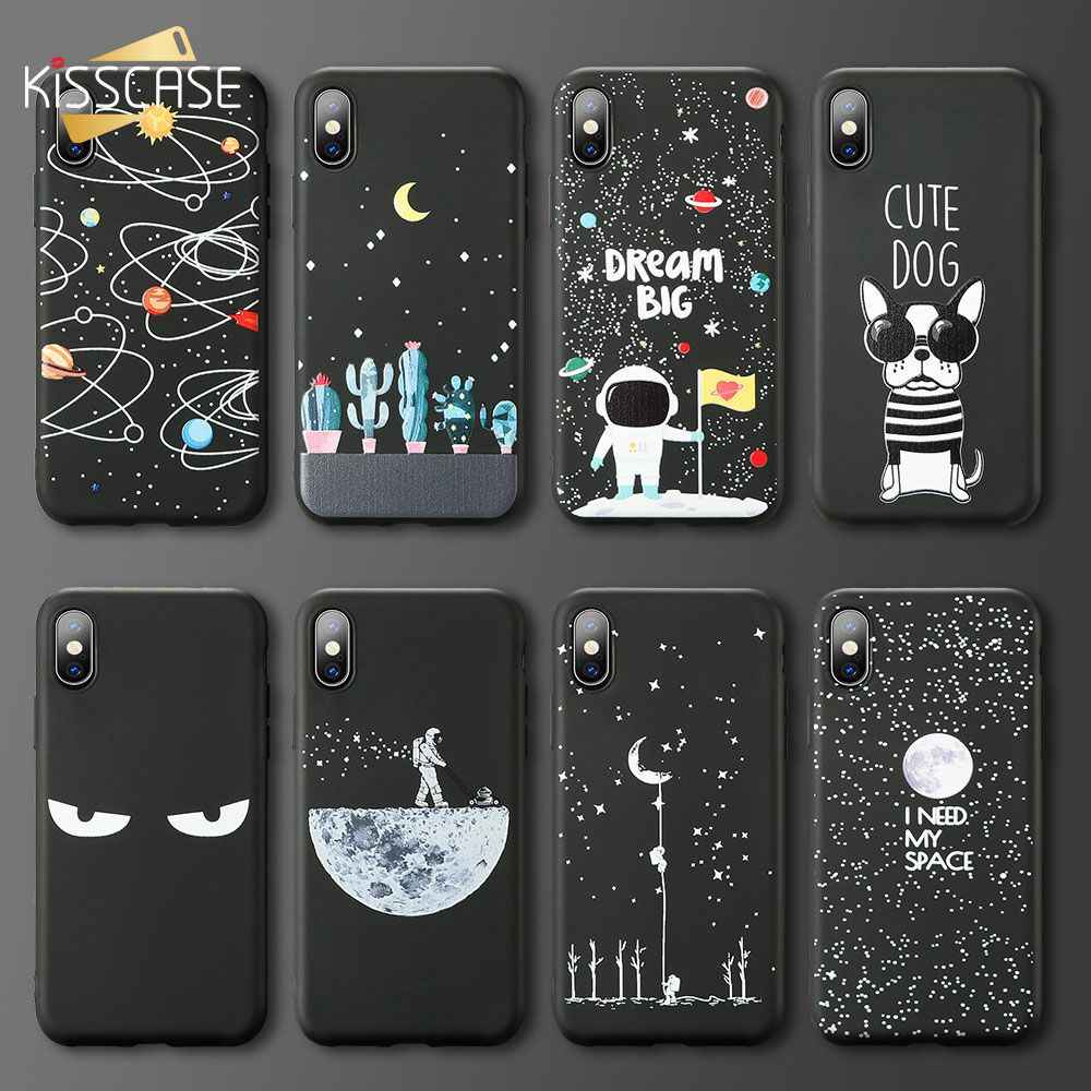 KISSCASE Star Space Case For Samsung Galaxy A6 A7 A8 A9 2018 J5 J7 2017 Soft TPU Phone Case For Samsung Galaxy S9 S8 Plus Note 9