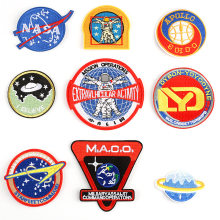 Nirvana Space Astronaut Iron On Parches Apollo Badge Paste Set Embroidered Motifs Patch Clothes Badges Rock DIY Sewing Sticker(China)