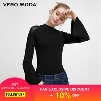 Vero Moda Sheer Splice Umbrella Sleeves Slim Fit Knitwear |317324576