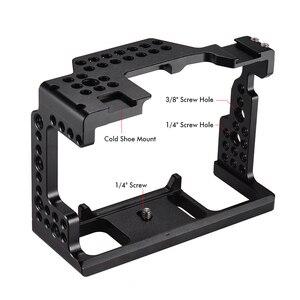 Image 3 - Andoer Camera Cage + Top Handle Kit Video Stabilizzatore Lega di Alluminio W/Fredda Shoe Mount per Sony A7II/ a7III/A7SII/A7M3/A7RII Macchina Fotografica