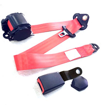 Universal Car Safety Seat Belts 3 Point Retractable Adjustable For Auto Cars With Curved Rigid Buckle