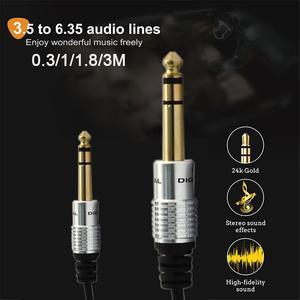 Image 4 - 3,5mm zu 6,5mm Adapter Jack Audio AUX Kabel für Mixer Verstärker Gitarre Männlichen