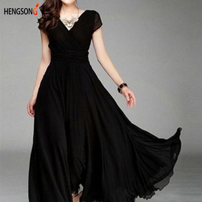 Hengsong 2018 New Women Maxi Dress Women Solid Color Boho Long Dress Party Bridesmaids Infinity Robe Longue Femme 802482 2
