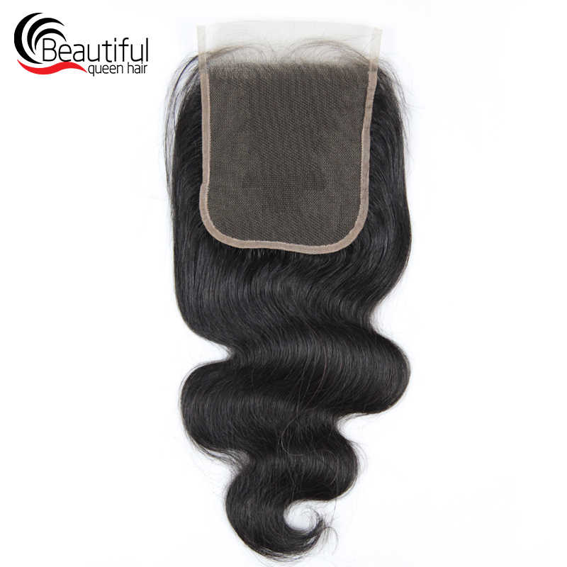 Красивая Королева 10A перуанские человеческие волосы кружева 5x5 тело волна Кружева Закрытие бесплатно/три части за выщипанные девственные волосы 130 Плотность
